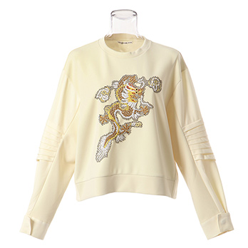 CLEAR JERSEY w DRAGON SWEAT SHIRT プルオーバー