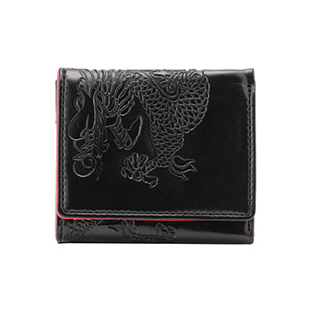 EMBOSSED DRAGON ON SYNTHETIC LEATHER 財布 詳細画像
