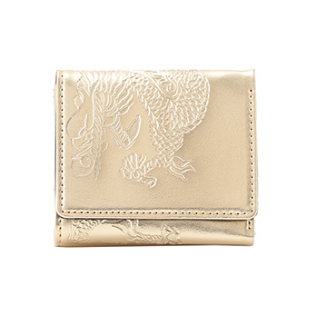 EMBOSSED DRAGON ON SYNTHETIC LEATHER 財布