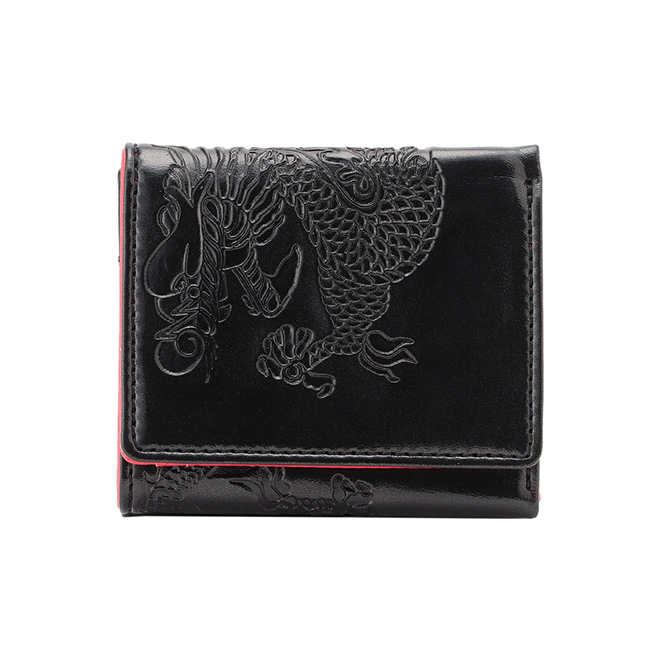 EMBOSSED DRAGON ON SYNTHETIC LEATHER 財布 詳細画像 ブラック 1