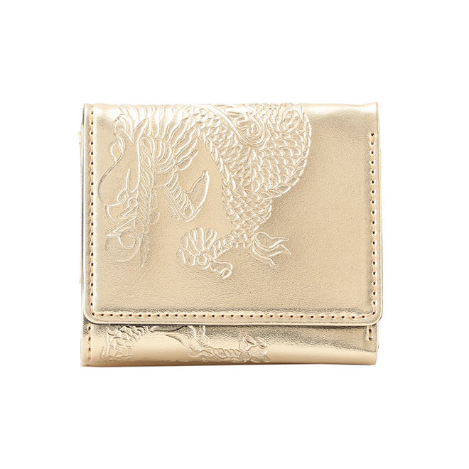EMBOSSED DRAGON ON SYNTHETIC LEATHER 財布 詳細画像 ゴールド 1