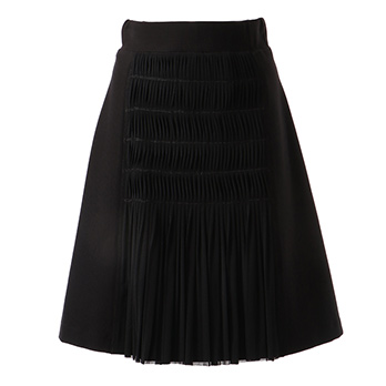 7315154 PONTI WITH PLEATED SOLID NETTING スカート