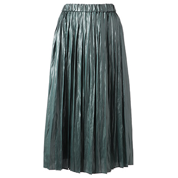 PLEATED KASSEN NAPPA スカート