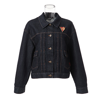 DENIM JACKET WITH DRAGON BUDGE ジャケット