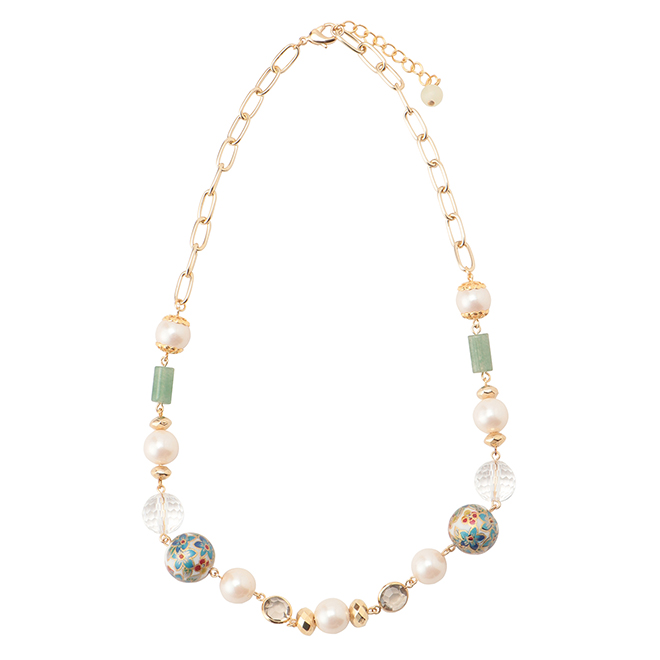 CLOISONNE NECKLACE ネックレス 詳細画像 ゴールド 1