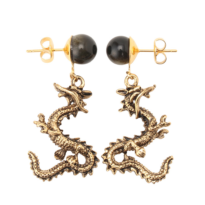 DRAGON PIERCED EARRINGS ピアス
