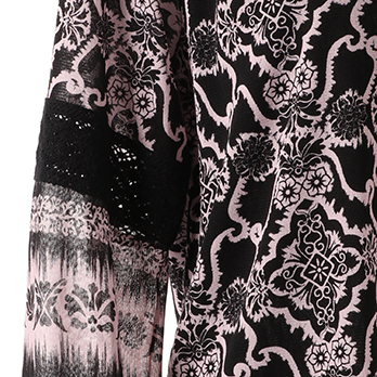 DAMASK PRINT ON ST NETTING ブラウス 詳細画像